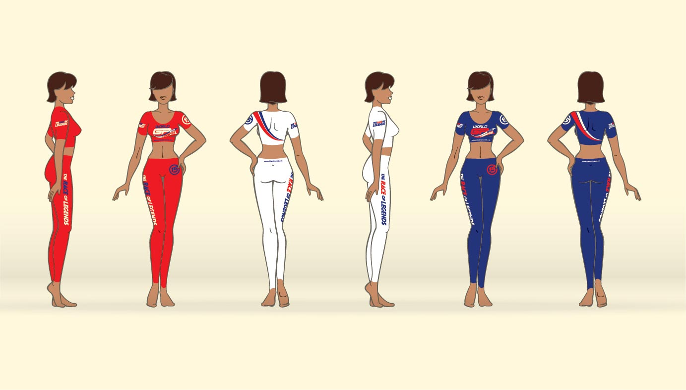 Grid girl outfit design