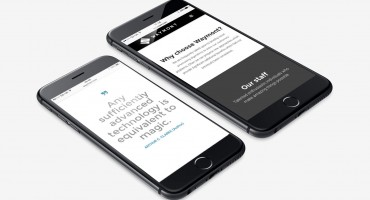 website development on an iphone