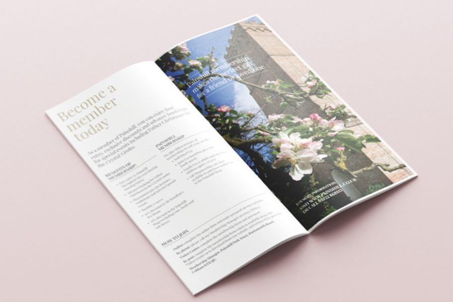 Literature leaflet design spread