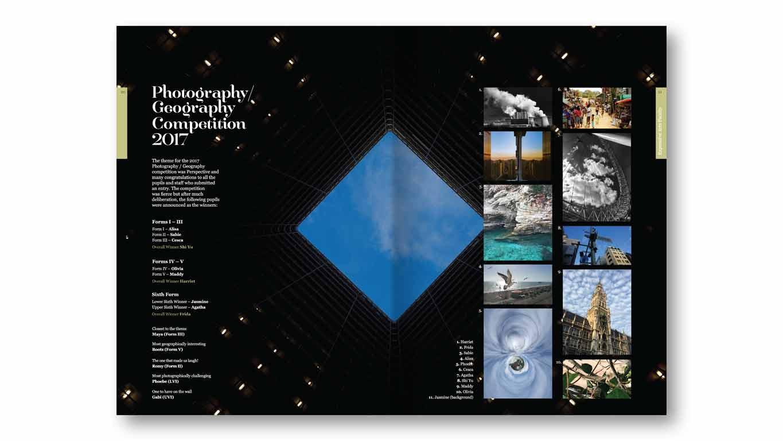 school magazine photographic spread
