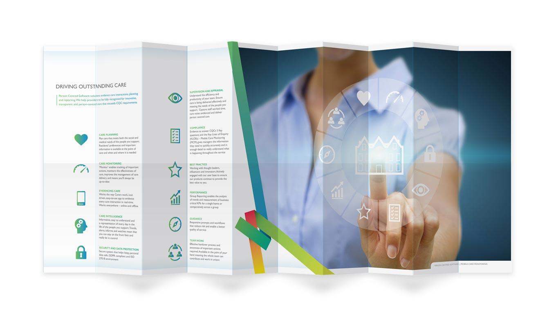 Infographic map-fold leaflet