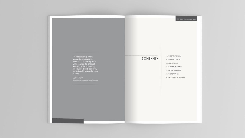 Report design brochure