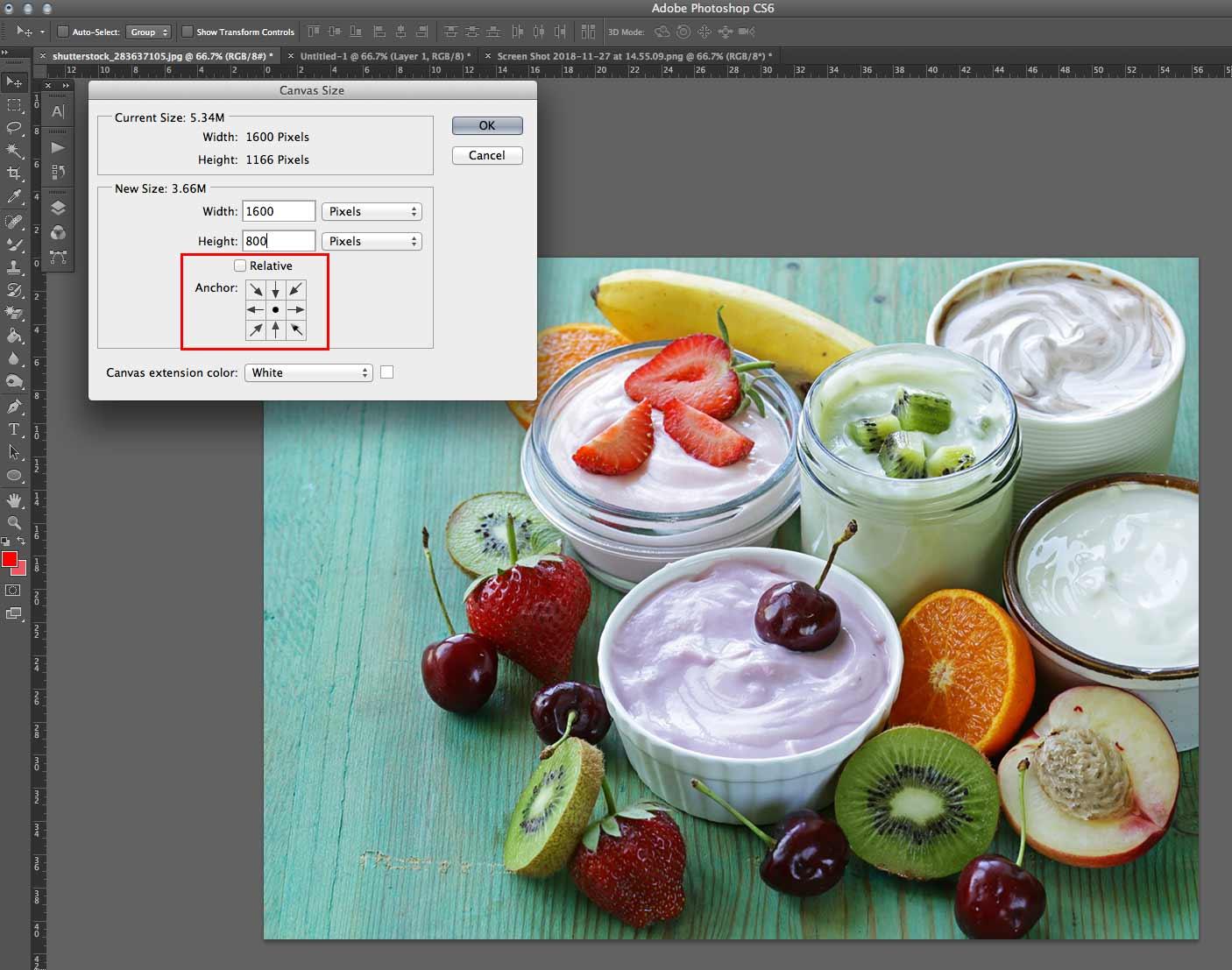 optimise images canvas size