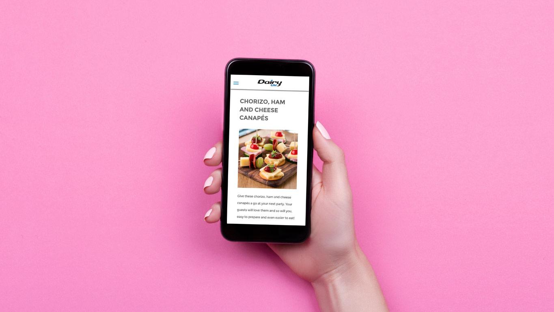 Industry website phone recipe
