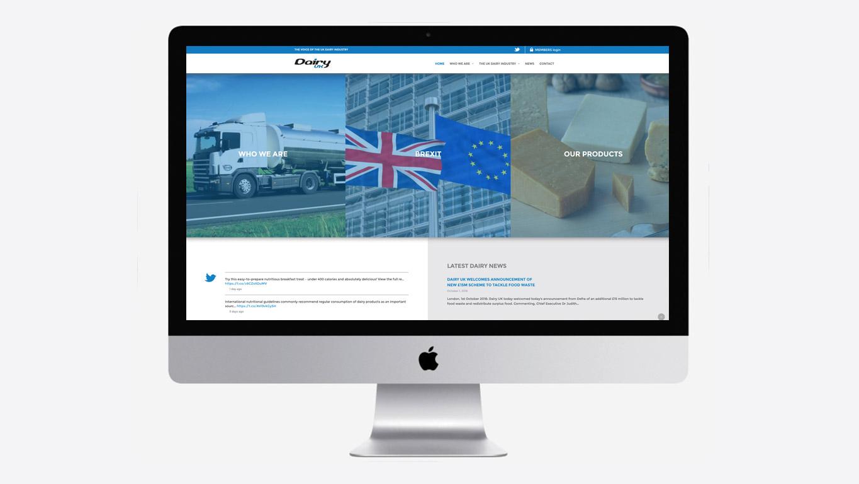 Industry website menu
