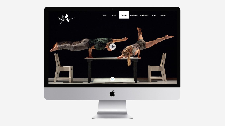 Dance website design video