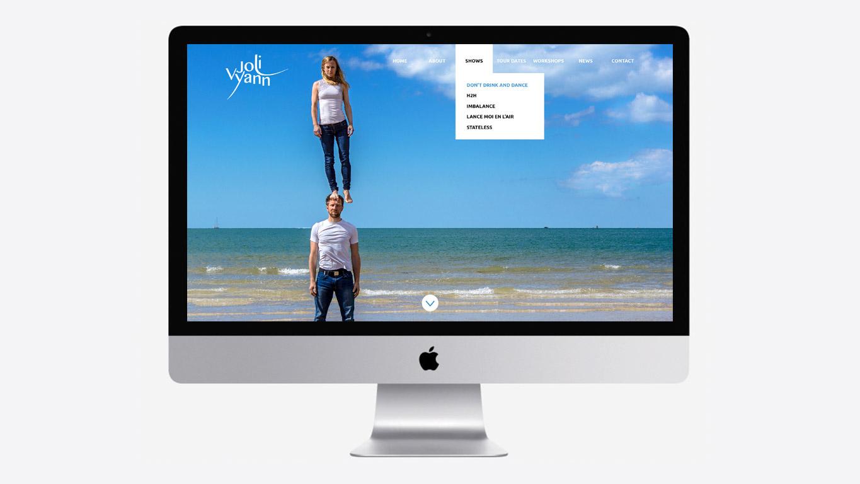 Dance website design menu