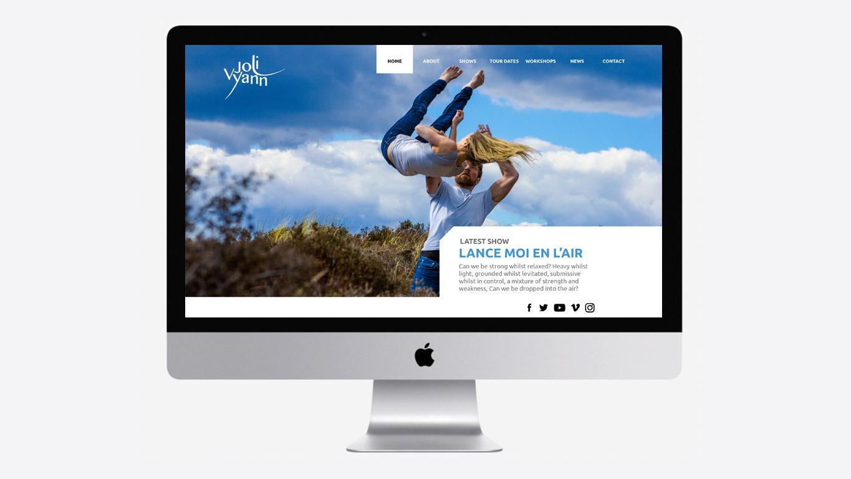 Dance website design homepage
