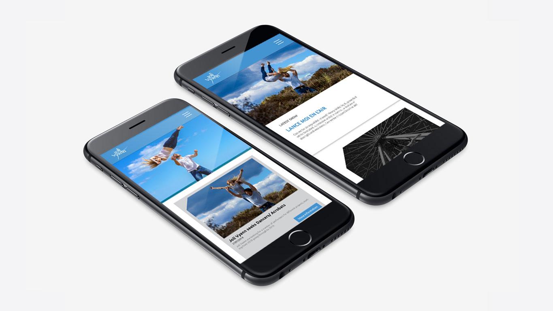 Dance website design mobile