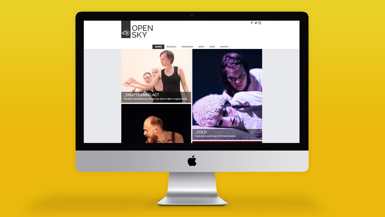Arts website design homepage