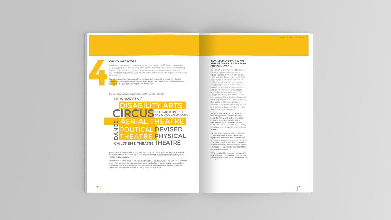 Annual Report design spread 3