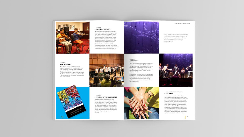 Annual Report design spread 2