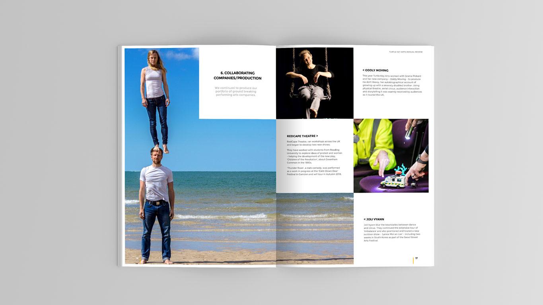 Annual Report design spread 1