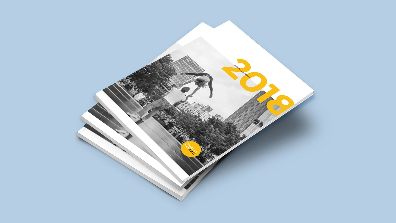 Annual Report design front page