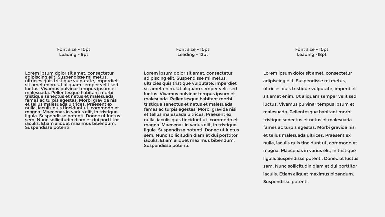 Typography leading