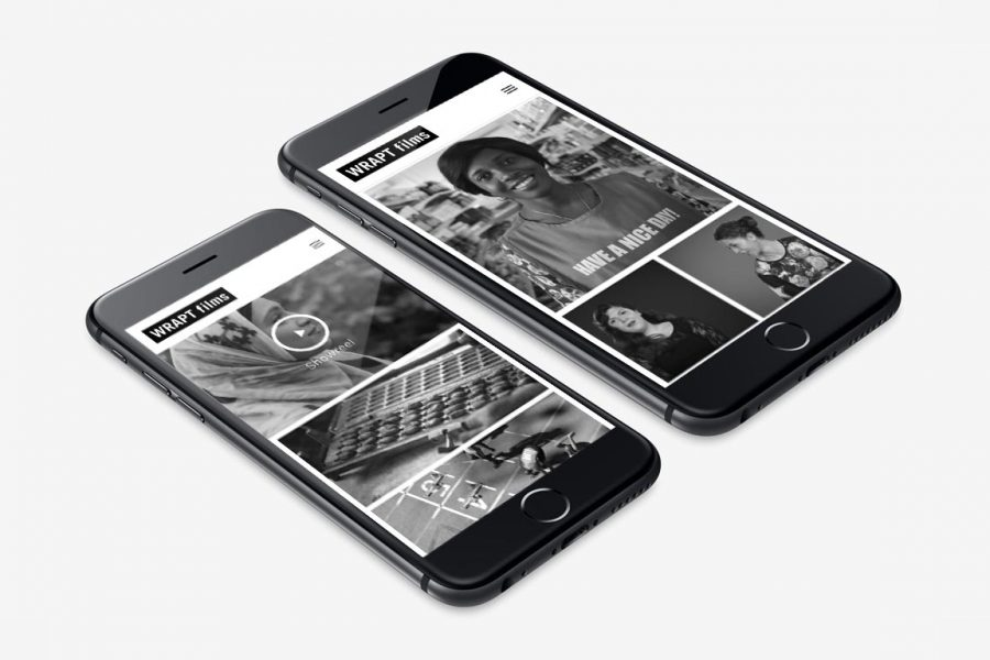 production company website mobile