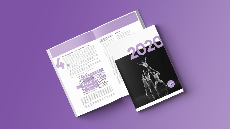 Annual report cover spread