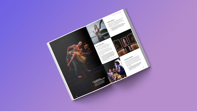 Annual report image spread