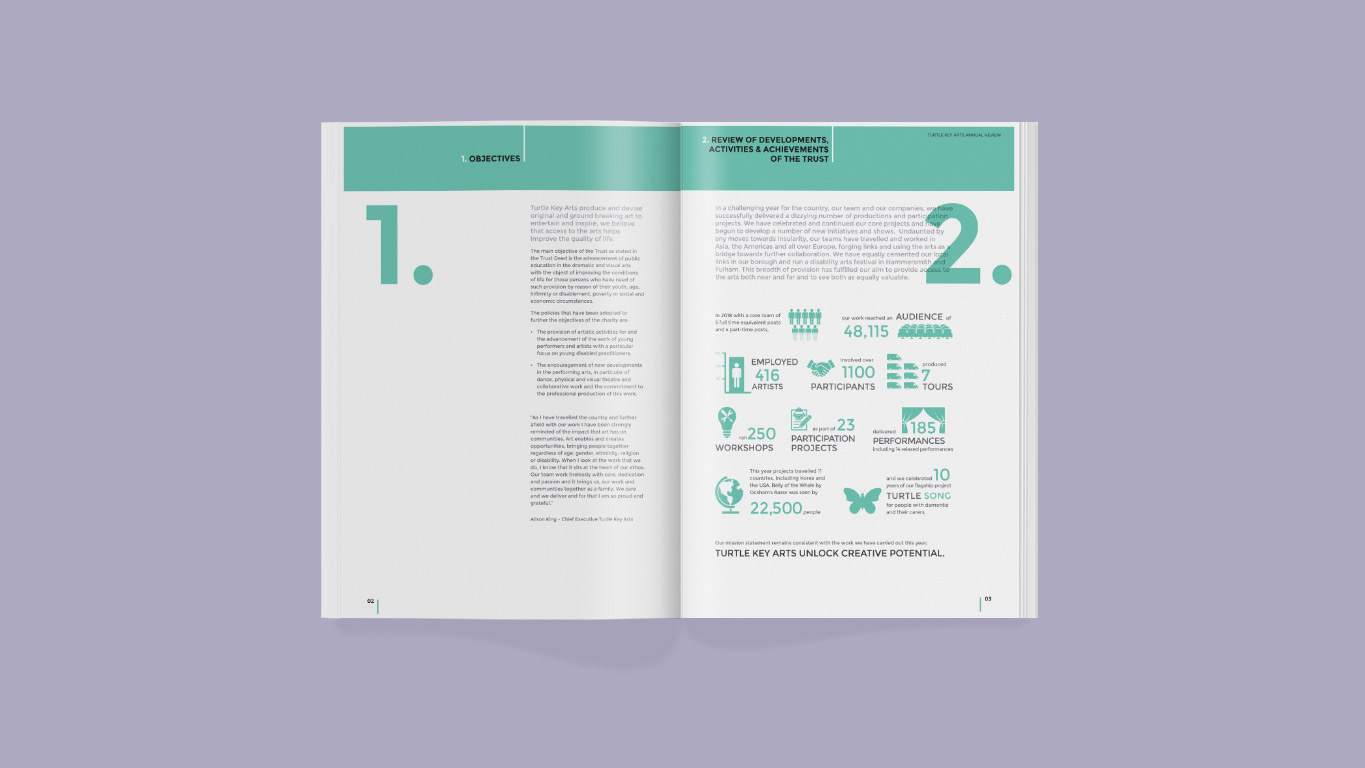 Annual Report design - double page