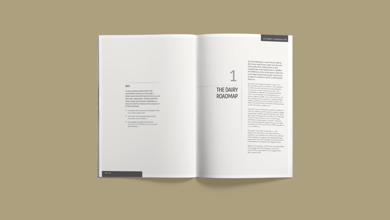 Annual report design spread