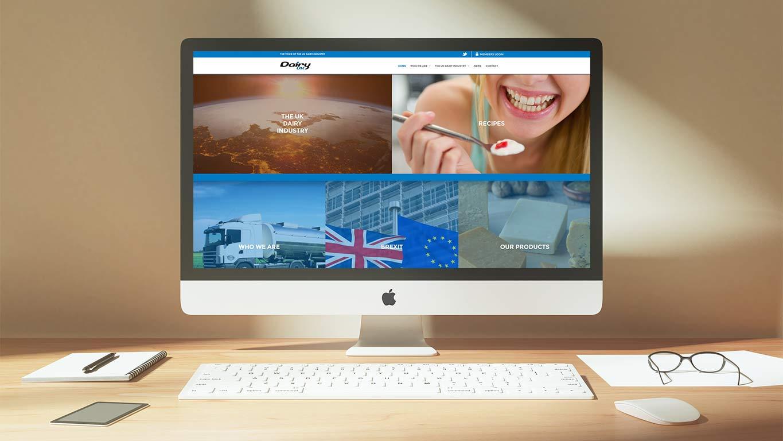 Industry website design - desktop view