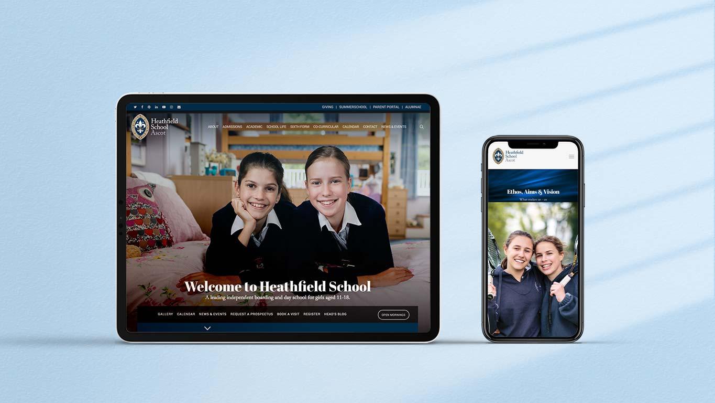School website design - tablet mobile