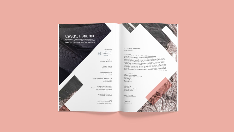 fashion show programme design