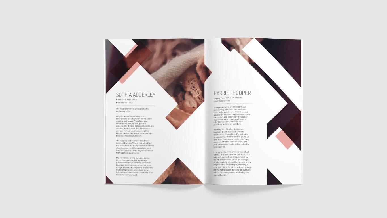 fashion show programme design spread visual