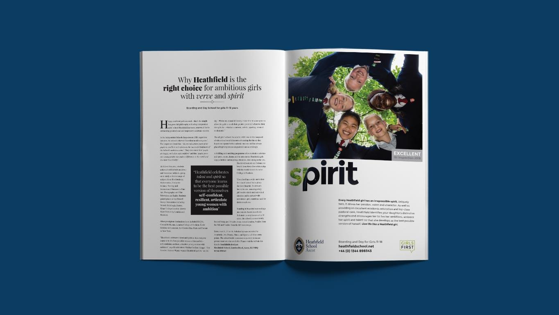 advertising campaign design magazine spread