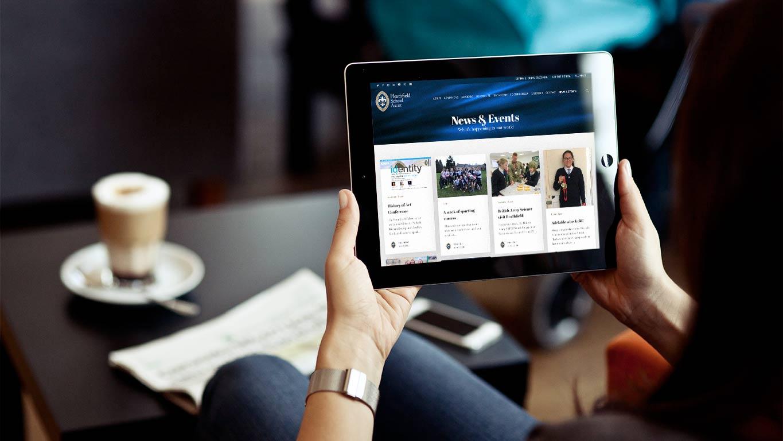 School website design - tablet