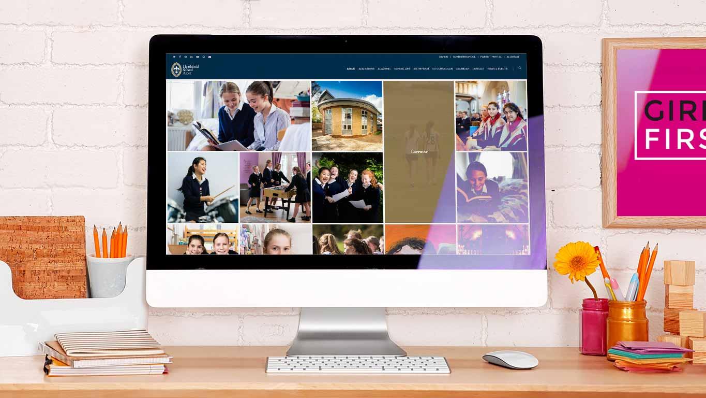 School website design - desktop search