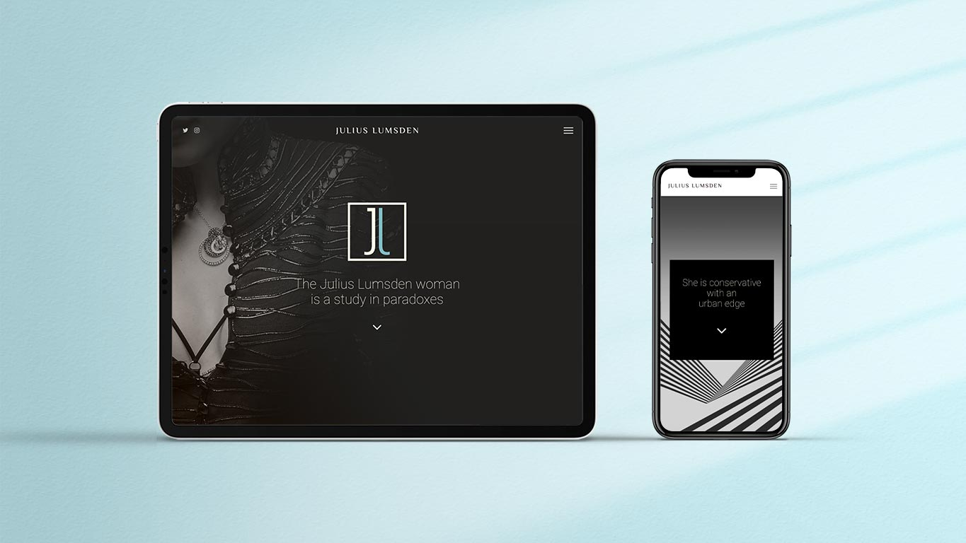 Fashion brand design mobile and tablet