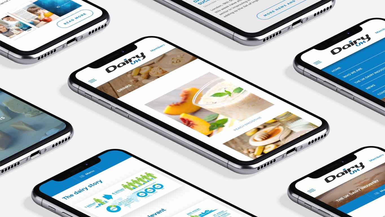 Industry website design - mobile screens