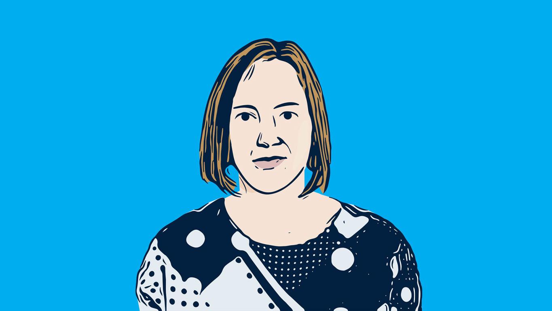 Entertainment woman illustration