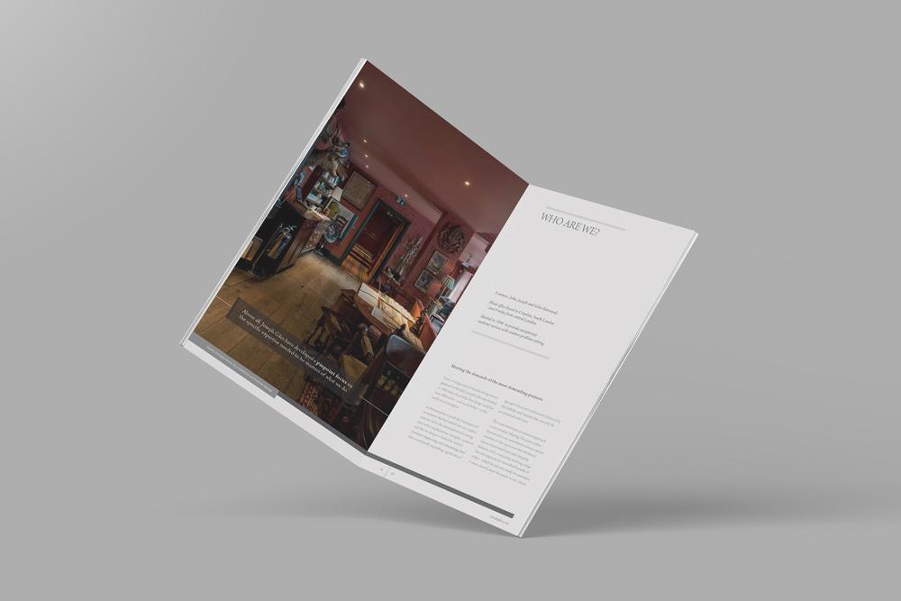 Brochure design double page