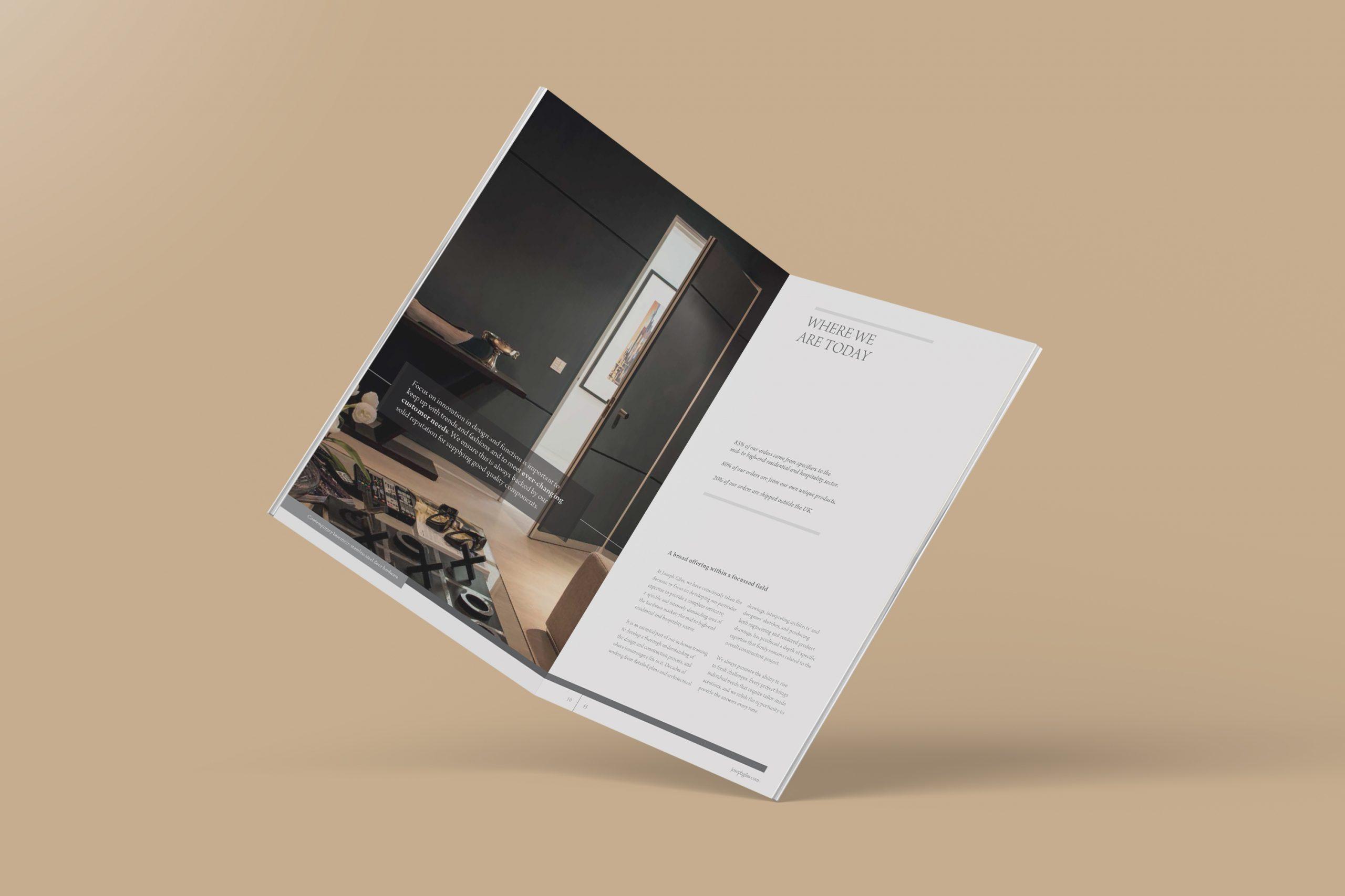 Brochure design spreads